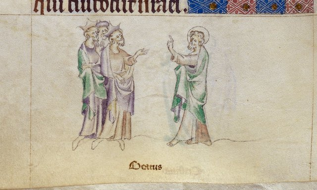 James the Greater from BL Royal 2 B VII, f. 257v