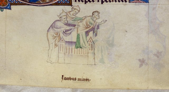James the Less from BL Royal 2 B VII, f. 249