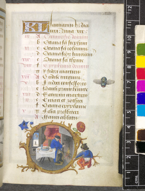 January from BL Eg 1147, f. 6