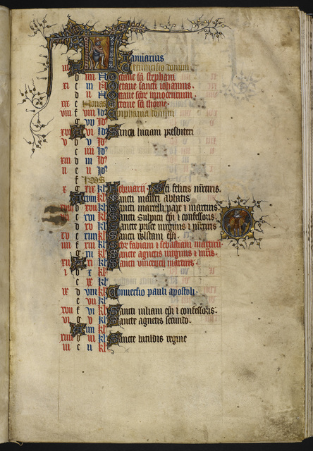 January from BL Eg 3277, f. 1