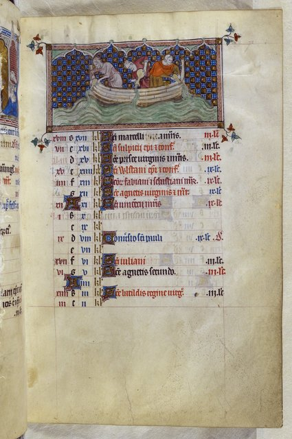 January from BL Royal 2 B VII, f. 72