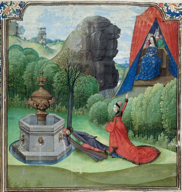Jean de Courcy from BL Royal 14 E II, f. 1