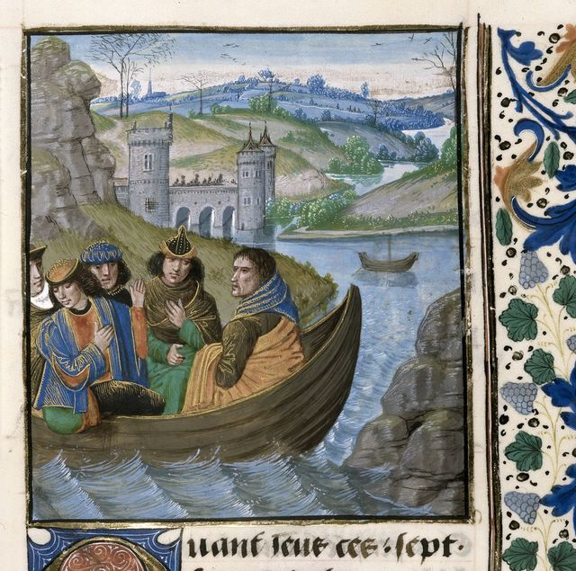 Jean de Courcy from BL Royal 14 E II, f. 218