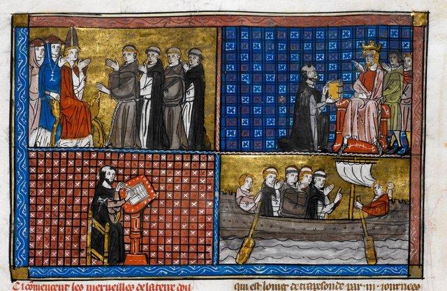 Jean de Vignay from BL Royal 19 D I, f. 136