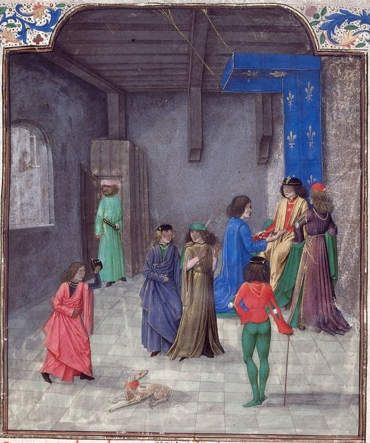 Jean of Berry from BL Royal 19 E I, f. 1