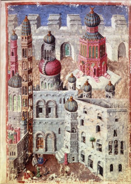Jerusalem from BL Eg 1070, f. 5