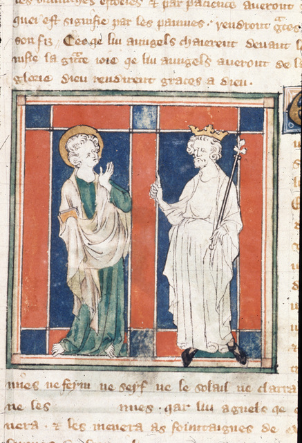 John and Elder from BL Royal 19 B XV, f. 13