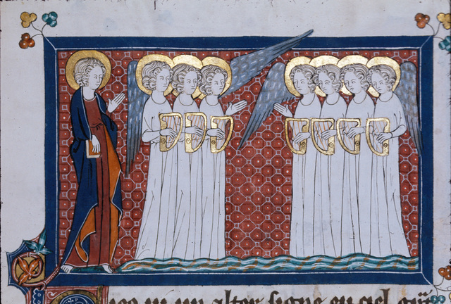 John and seven angels from BL Royal 15 D II, f. 169