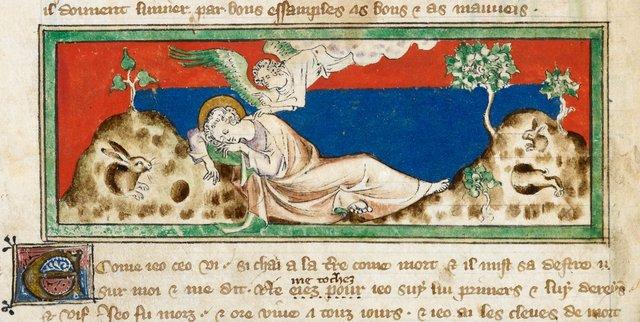 John from BL Royal 19 B XV, f. 2v