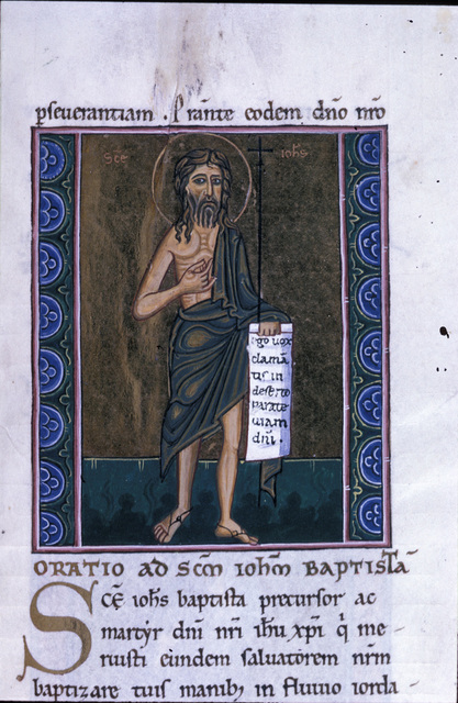 John the Baptist from BL Eg 1139, f. 206