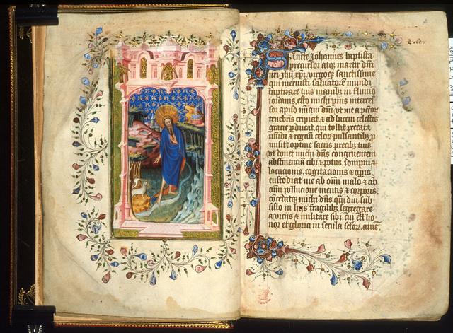 John the Baptist from BL Royal 2 A XVIII, ff. 3v-4