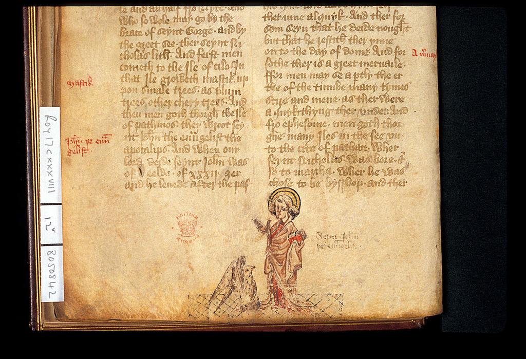John with the eagle from BL Royal 17 C XXXVIII, f. 12v