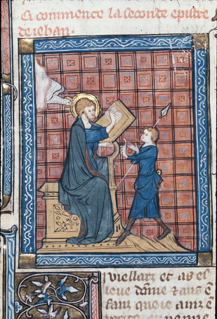 John writing from BL Royal 18 D VIII, f. 162v