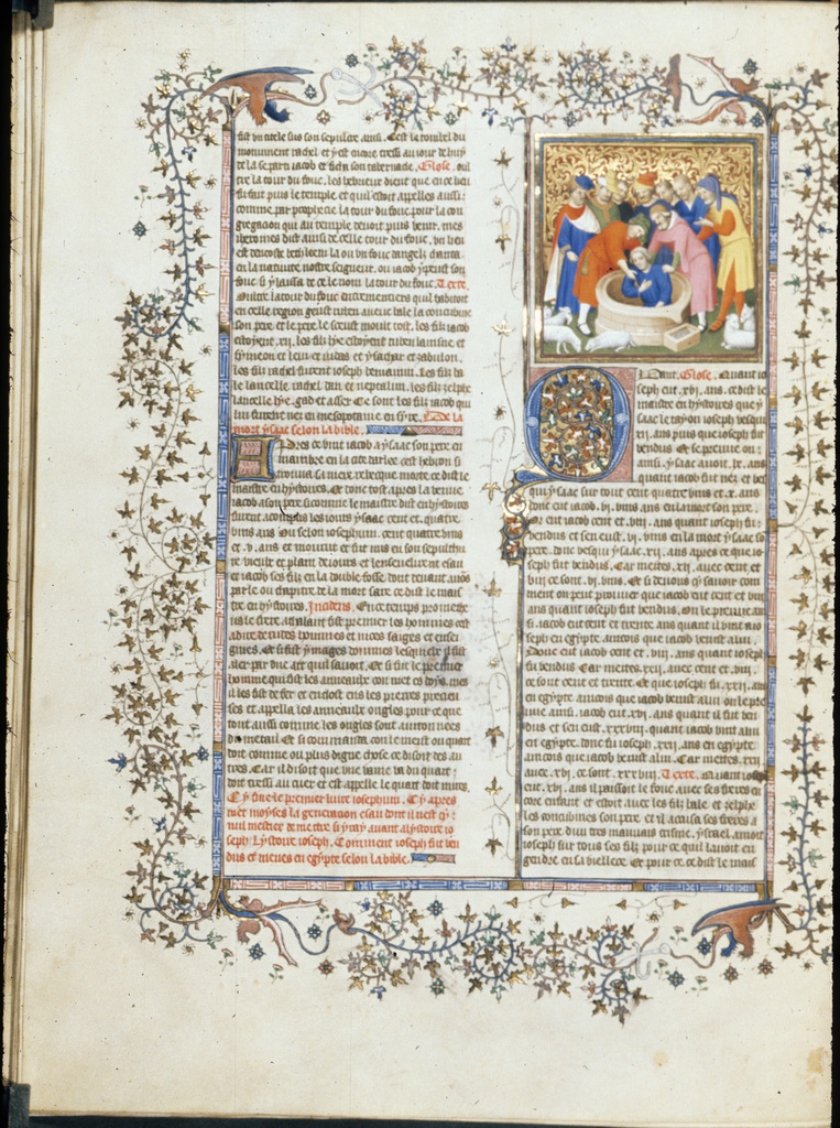 Joseph placed in the well from BL Royal 15 D III, f. 31v