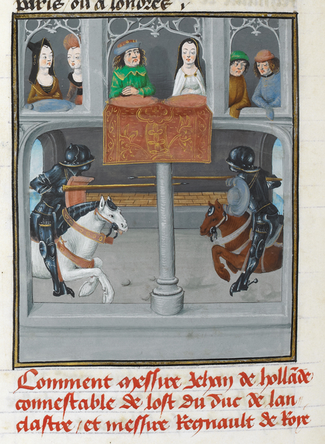 Joust from BL Royal 14 E IV, f. 293v