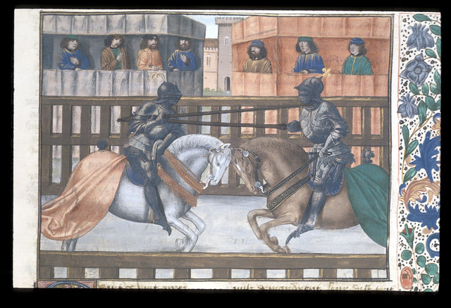 Joust from BL Royal 14 E IV, f. 81