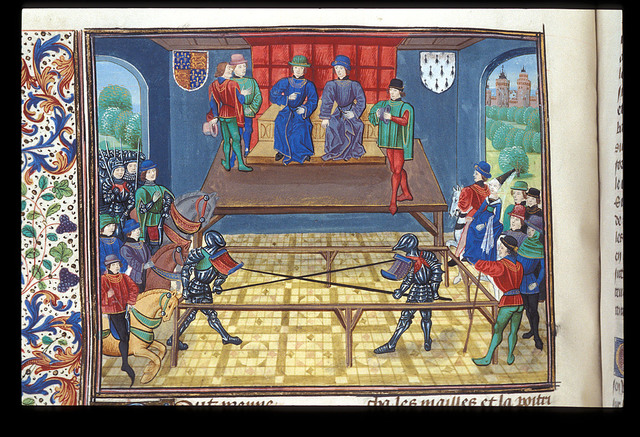 Joust from BL Royal 18 E I, f. 139