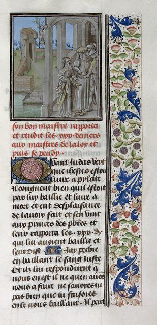 Judas from BL Royal 15 D I, f. 346