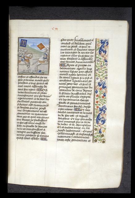 Judas Maccabeus and Gorgias from BL Royal 15 D I, f. 128