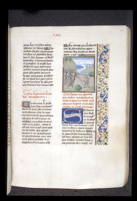 Judas Maccabeus from BL Royal 15 D I, f. 166