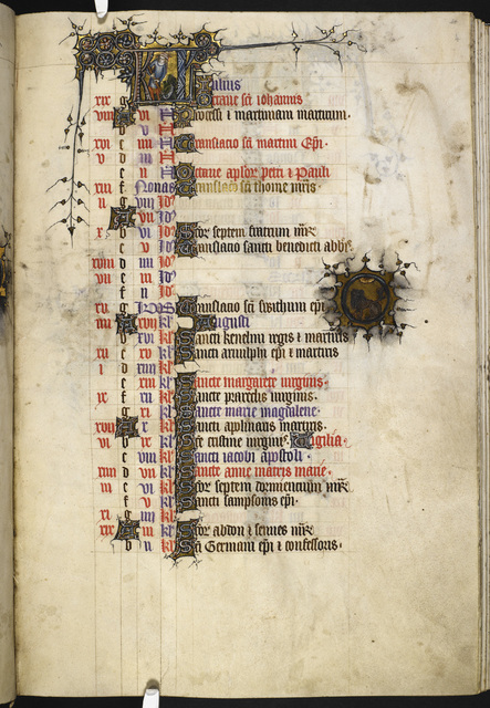 July from BL Eg 3277, f. 4