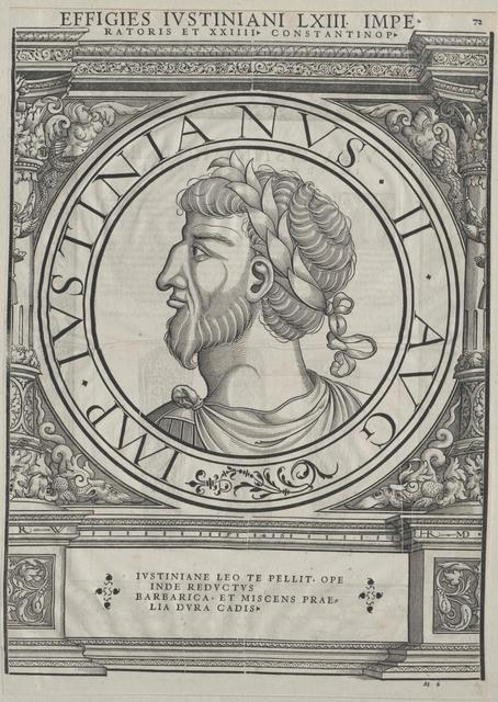 Justinian II. Rhinotmetos,  oströmischer Kaiser