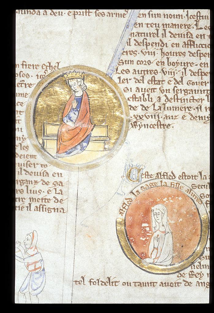 King Alured from BL Royal 14 B V, Membrane 2
