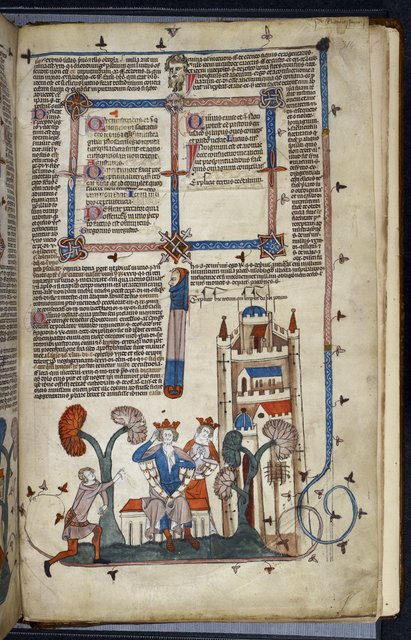 King and court from BL Royal 10 E IV, f. 314