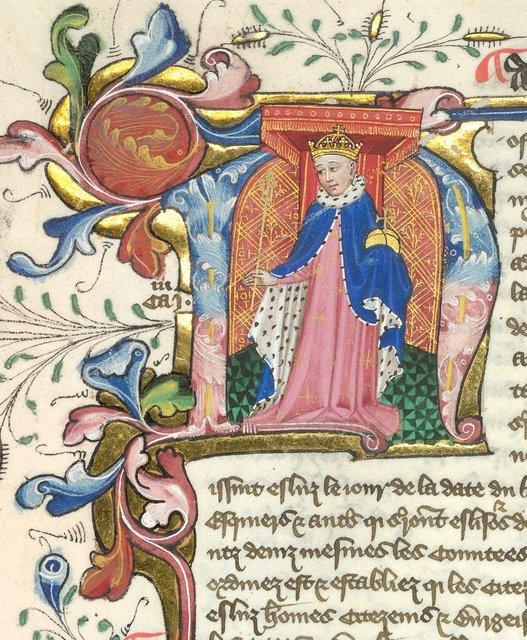 King Henry V from BL YT 48, f. 172v