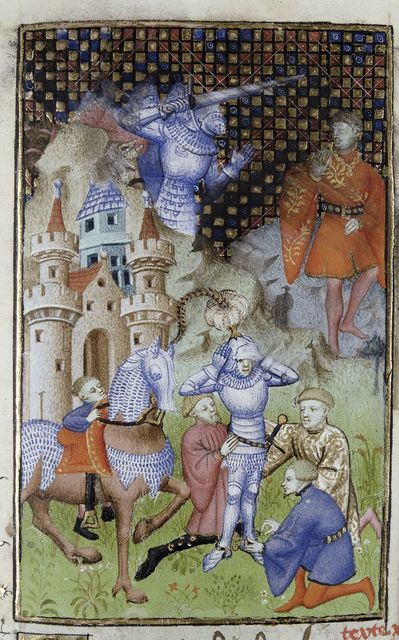King Memnon from BL Harley 4431, f. 112
