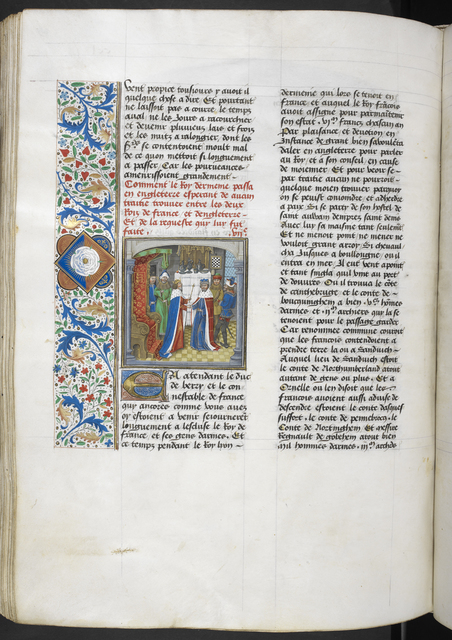 King of Armenia and Richard II from BL Royal 14 E IV, f. 259v