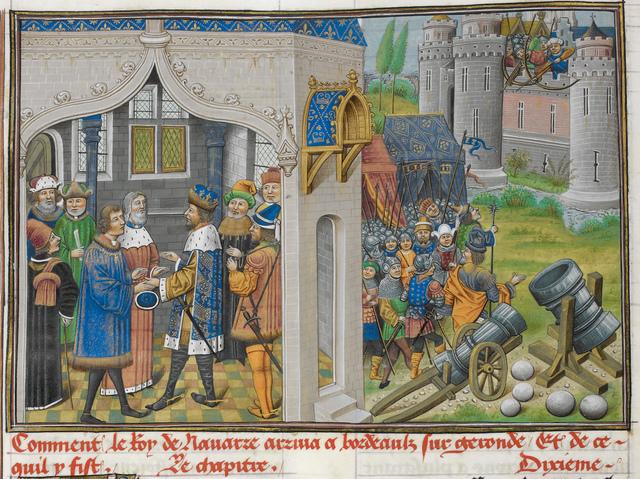 King of Navarre from BL Royal 14 E IV, f. 28v