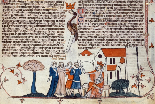 King rejecting people from BL Royal 10 E IV, f. 240