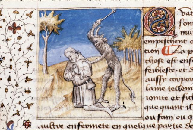 Kneeling man from BL Royal 20 B IV, f. 88v
