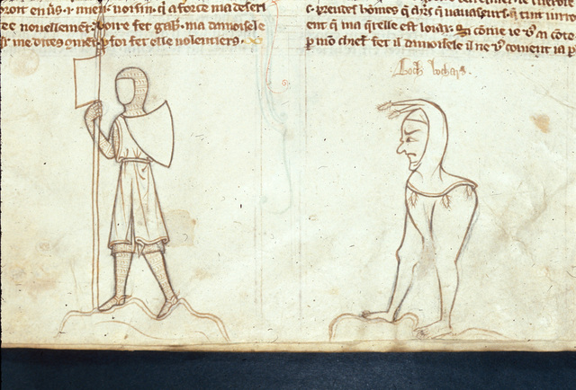 Knight and a hybrid from BL Royal 20 C VI, f. 11