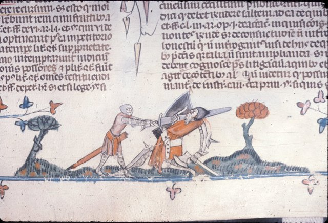 Knight slaying giant from BL Royal 10 E IV, f. 126