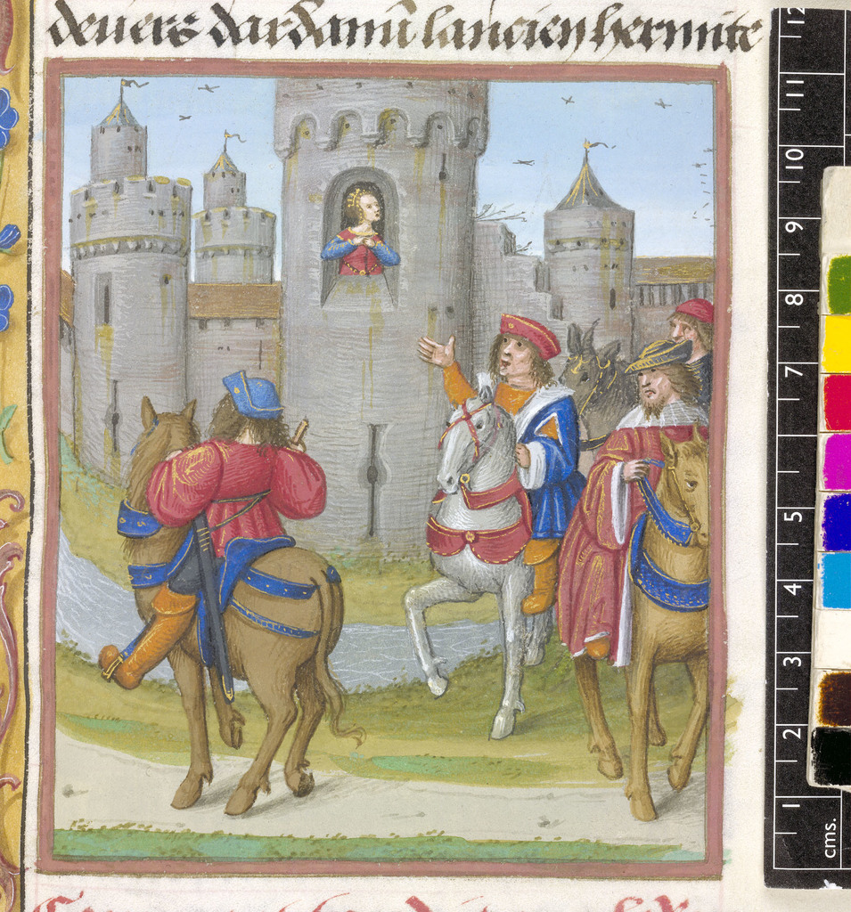 Knights from BL Royal 19 E III, f. 70