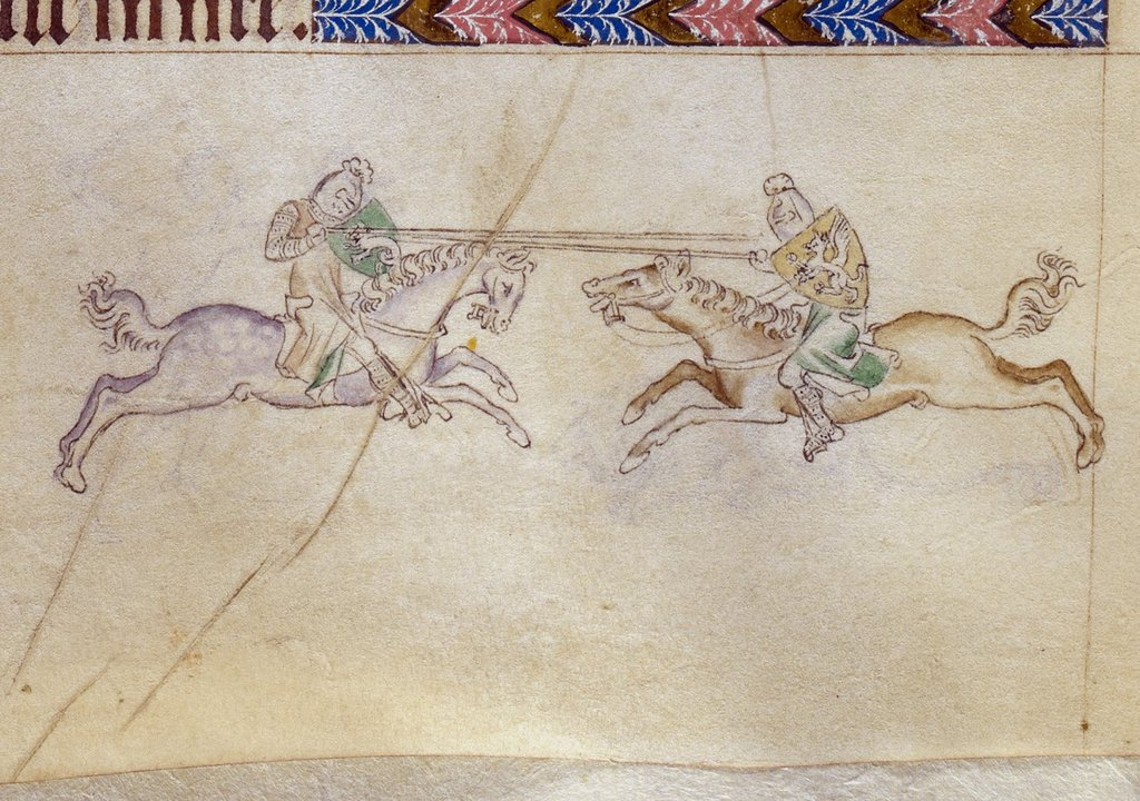 Knights from BL Royal 2 B VII, f. 183v