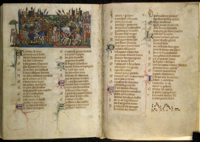 La Bataille d'Annezin from BL Royal 20 A XVII, ff. 176v-177