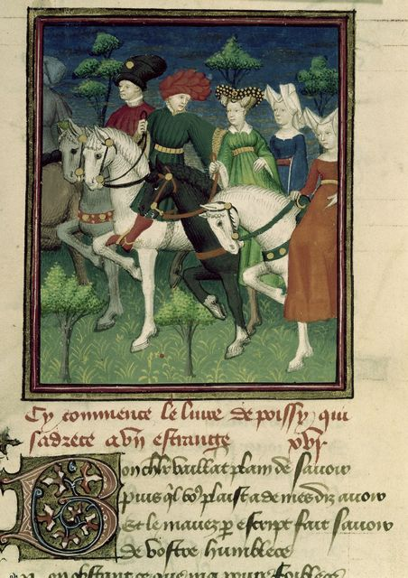 Ladies and gentlemen riding from BL Harley 4431, f. 81