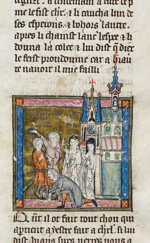 Lancelot from BL Royal 14 E III, f. 89