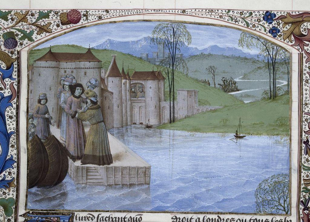 Landing of Alfred from BL Royal 15 E IV, f. 213v