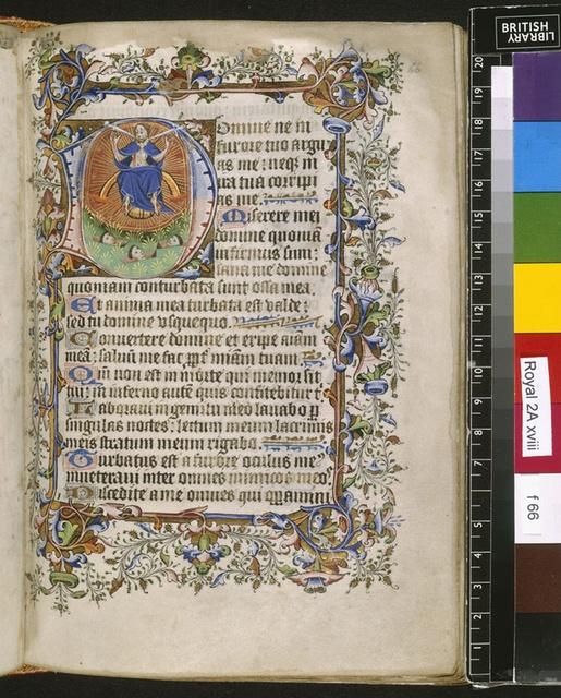 Last Judgement from BL Royal 2 A XVIII, f. 66
