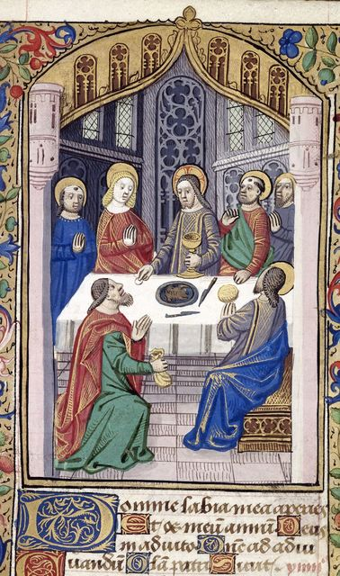 Last Supper from BL Harley 2865, f. 53
