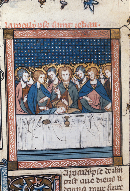 Last Supper from BL Royal 18 D VIII, f. 163v