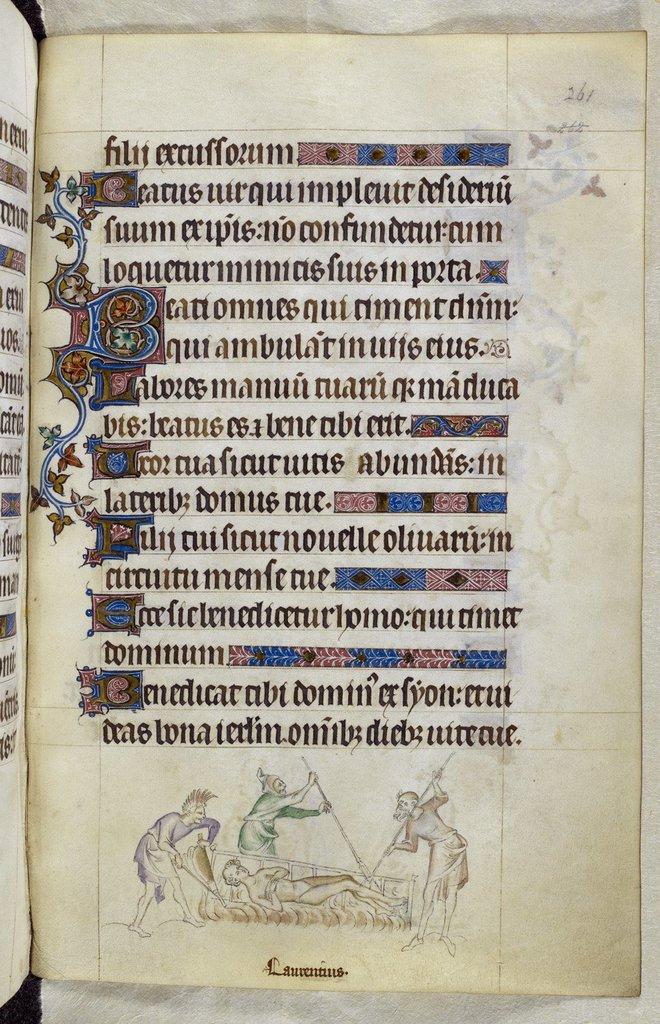Laurence from BL Royal 2 B VII, f. 261