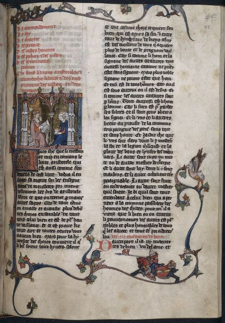 'Le livre' from BL YT 19, f. 87