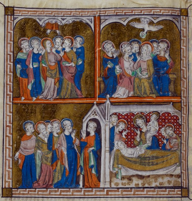 Life of Mary from BL Royal 2 B VII, f. 297v