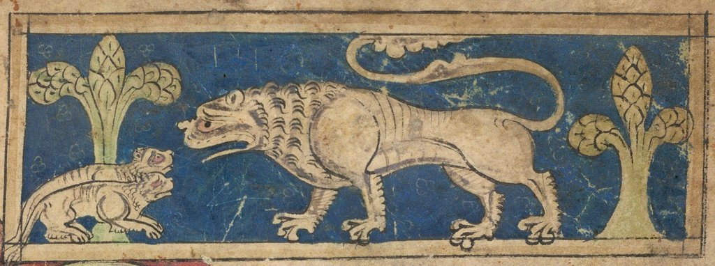 Lion from BL Sloane 3544, f. 1