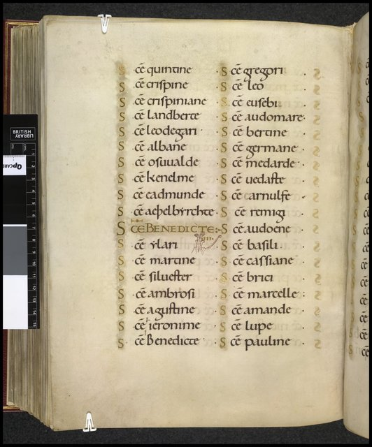 Litany from BL Harley 2904, f. 210v